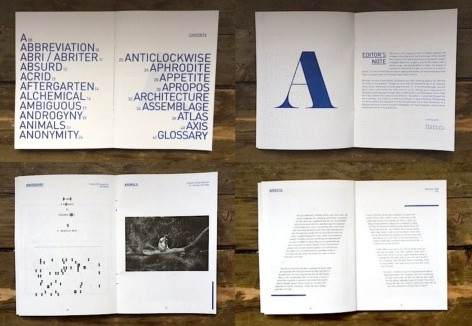 Spread: ellipsis journal (Issue A)