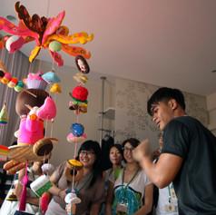 Sokkuan Tye, Kuih-muih, hanging soft sculpture