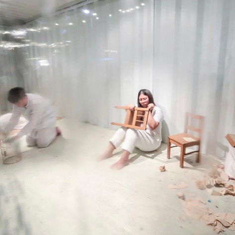 The Travellers in Paradise to Paradise, durational performance at Art Box Singapore, 23 October 2019.