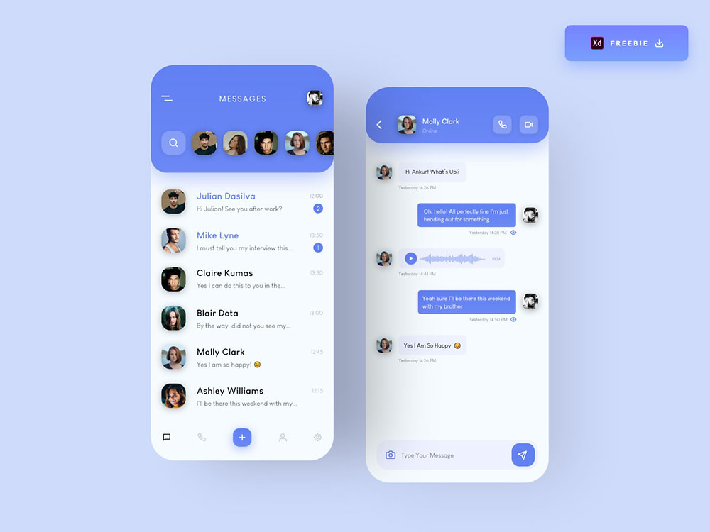 Free mobile messaging app that can be used on many projects