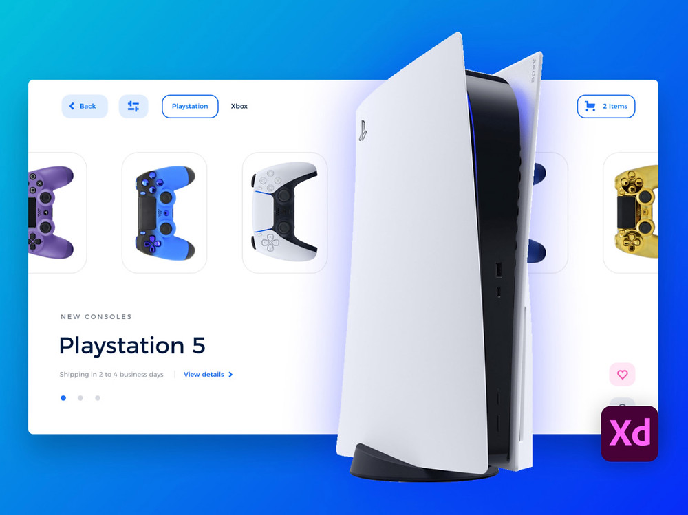 Download this awesome ecommerce landing template for selling PlayStation 5