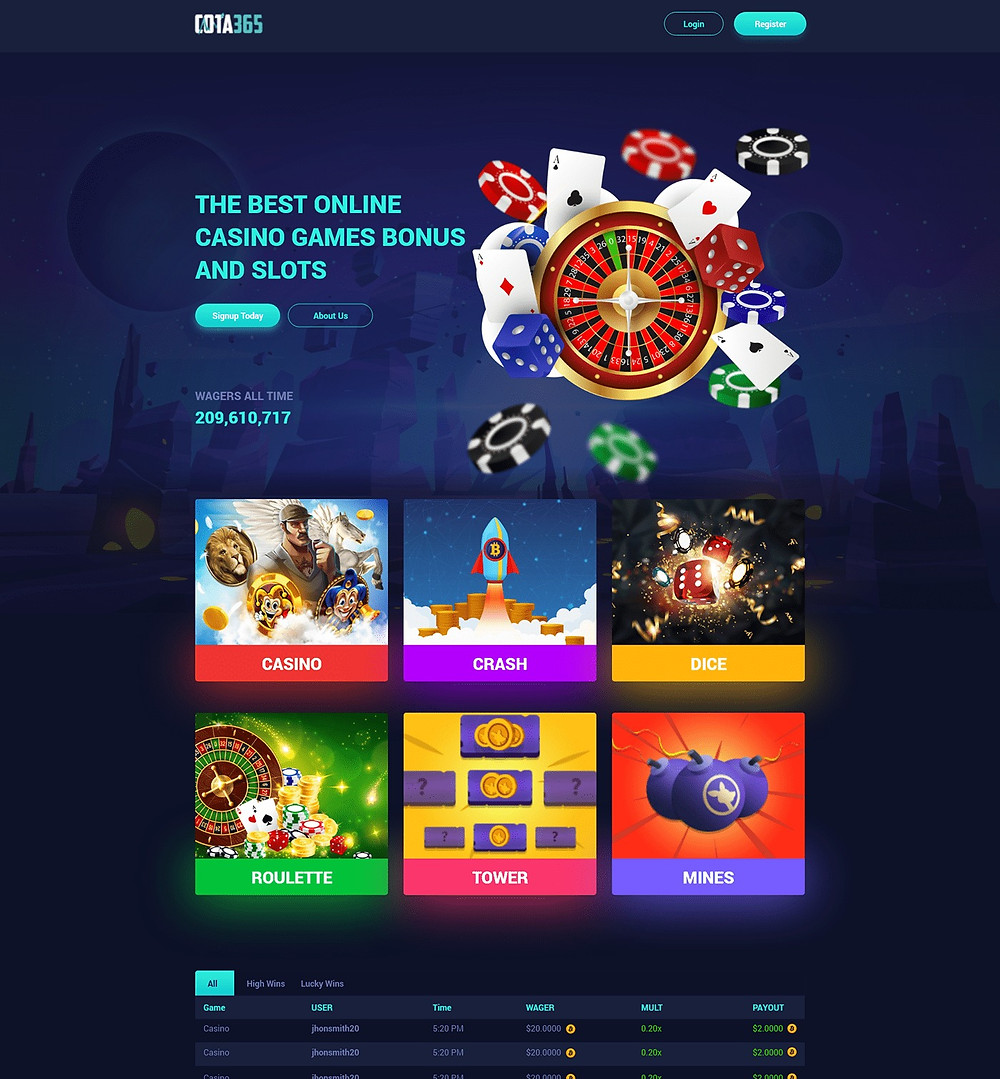 Awesome & clean casino gaming landing page template that can work for any kind of your next casino games projects