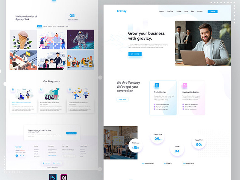Download this template if u want a fancy agency landing page for your next project