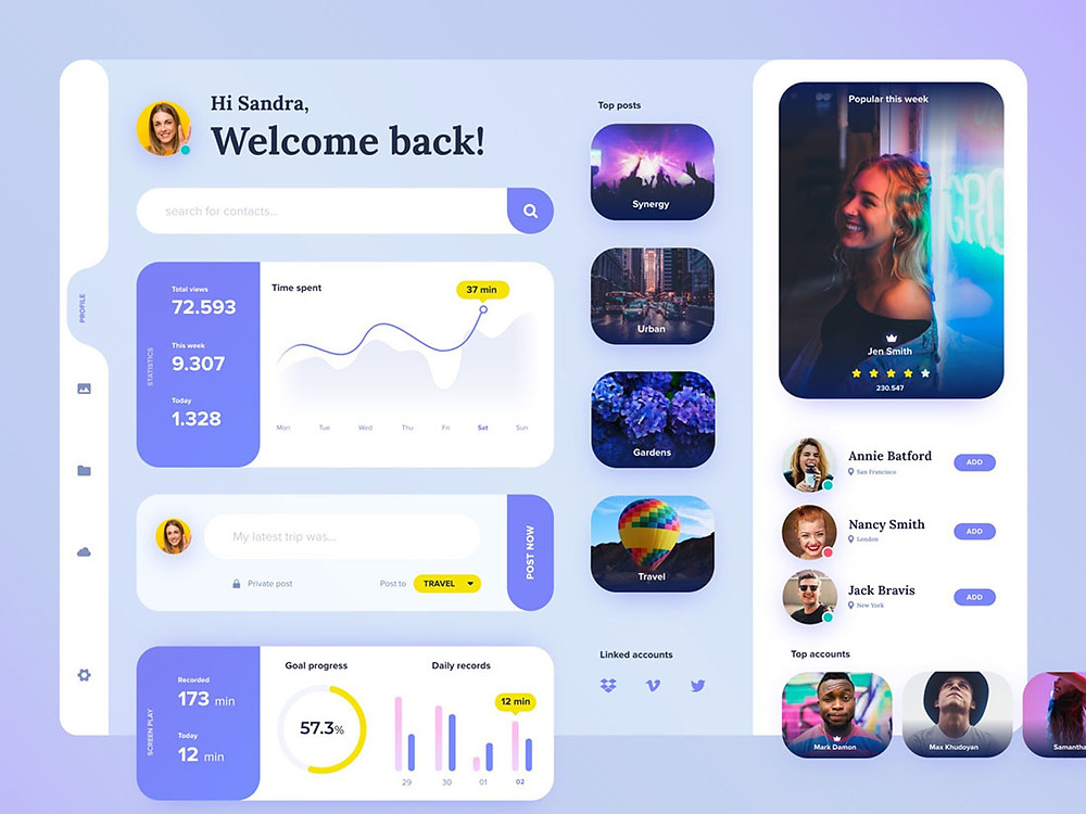 Download this template if u want a fancy ui kit for user profile for your next project