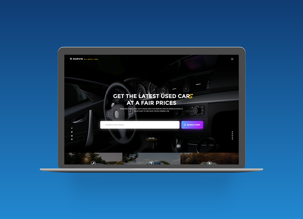 Download this template if u want a fancy car auction and selling website design for your next project