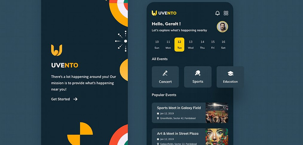 Download this template if u want a fancy events app resource for your next project
