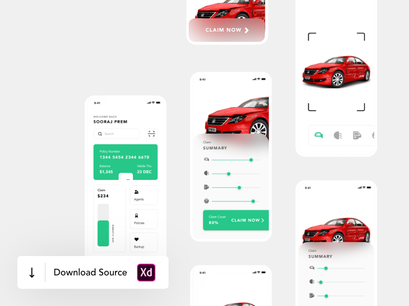 Download this template if u want a fancy car insurance app resource for your next project