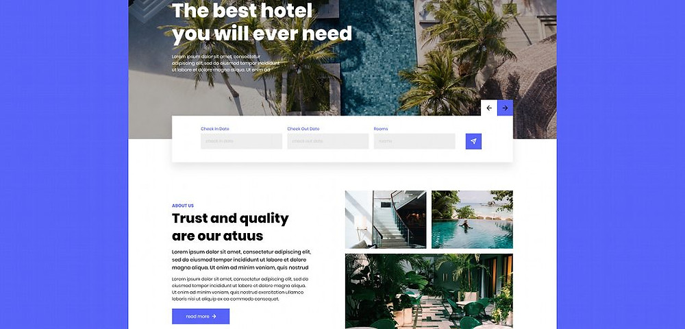Download this template if u want a fancy hotel booking website resource for your next project