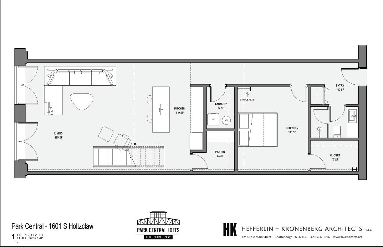 2 Bed Loft Rendering Downstairs