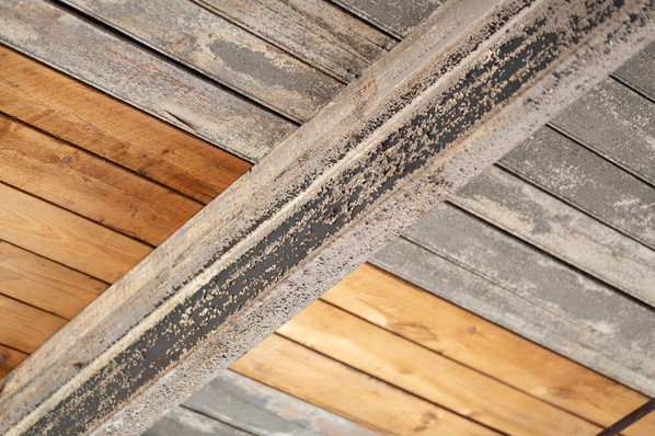 Aged And New Wood Ceiling