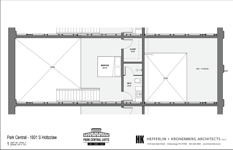 2 Bed Loft Rendering Upstairs