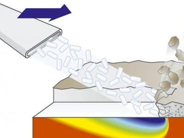 Криогенный бластинг (Очистка сухим льдом).