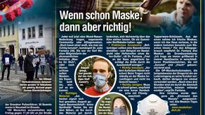Zeitung - Dresdner Morgenpost: Wenn schon Maske, dann aber richtig!
