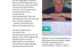 """Zeitung: Schwäbische Zeitung - """"Internetseite zeigt, wo es genähte Mundschutzmasken gibt"""""""