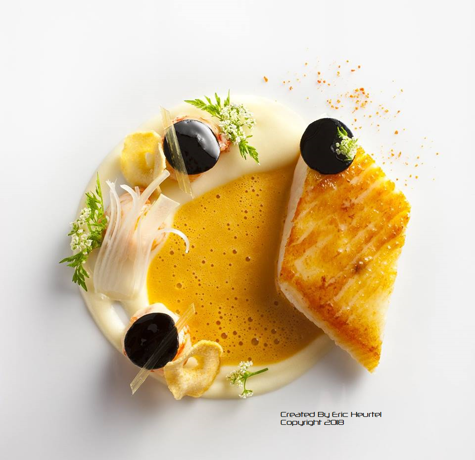 unchefdansmacuisine.salt by eric heurtel.Filet de turbot puree topinambour creme etrilles