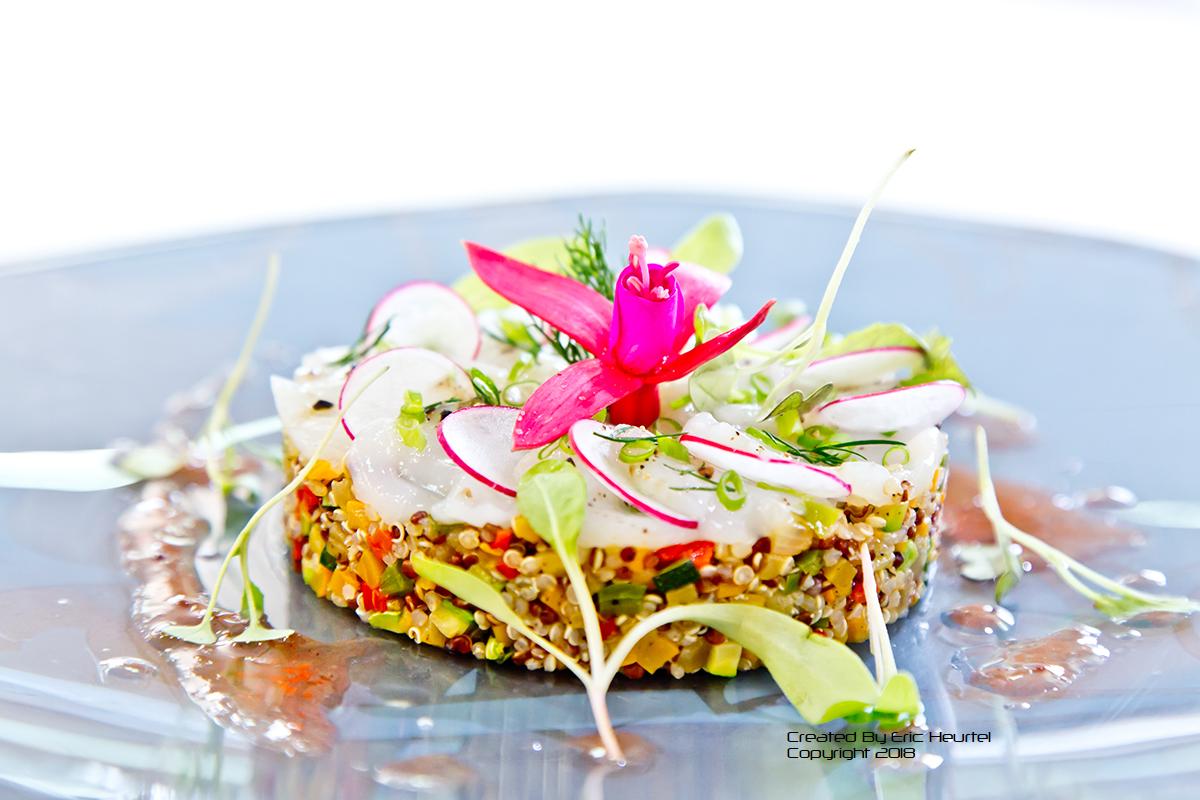 unchefdansmacuisine.salt.ericheurtel salade de quinoa et saint jacques marinees