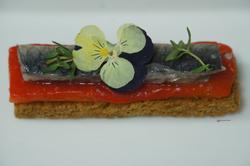 unchefdansmacuisine.salt.ericheurtel tartine de poivron confit et sardine marinee