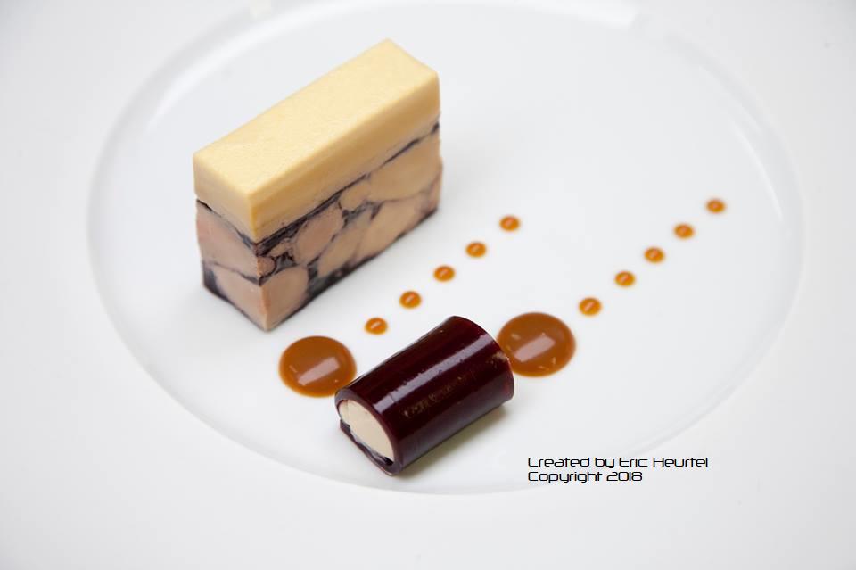 unchefdansmacuisine.salt.ericheurtel marbre de foie gras et caneloni de gelee de cerise