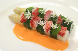 asparagus and lobster ,bisque