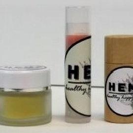 Hemp Lip Balm Small Glass Pots 10gm