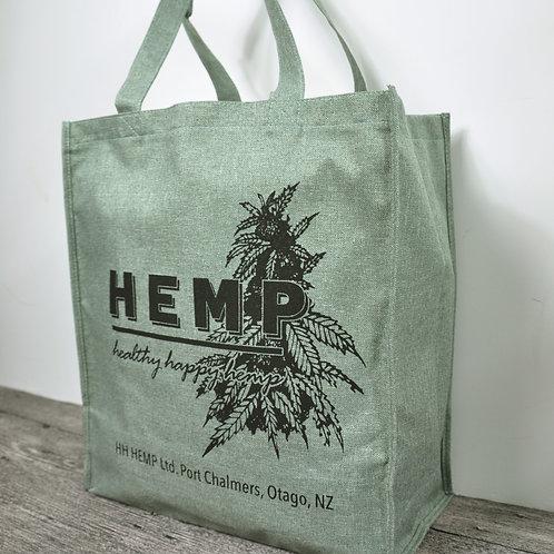 Hemp Fabric Carry Bag, green
