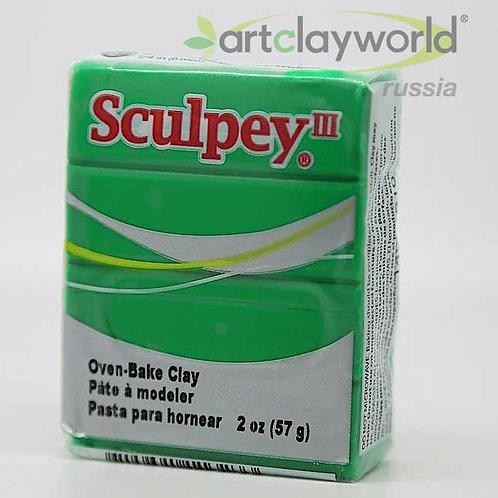 Sculpey III изумрудный