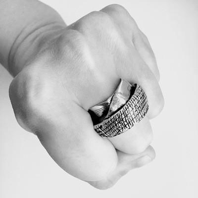 кольцо из пластичного серебра art clay silver