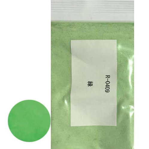 Горячая эмаль. Непрозрачная зеленая