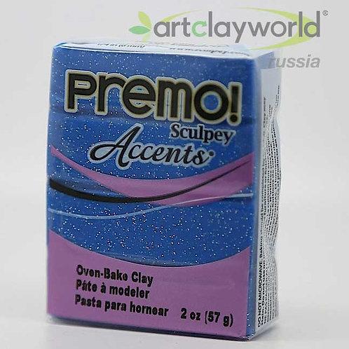 Sculpey Premo! Accent синий с блестками