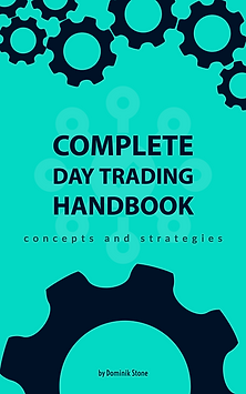 book cover - complete day trading handbook by dominik stone