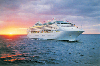 princess cruise ship sunset