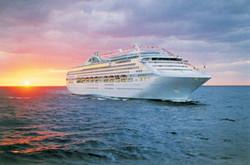princess cruise ship sunset