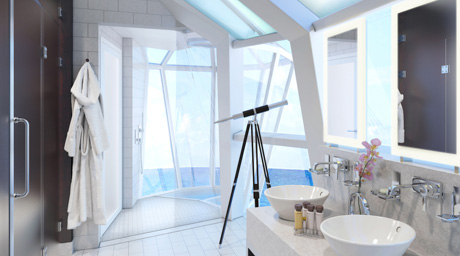 Reflection suite shower