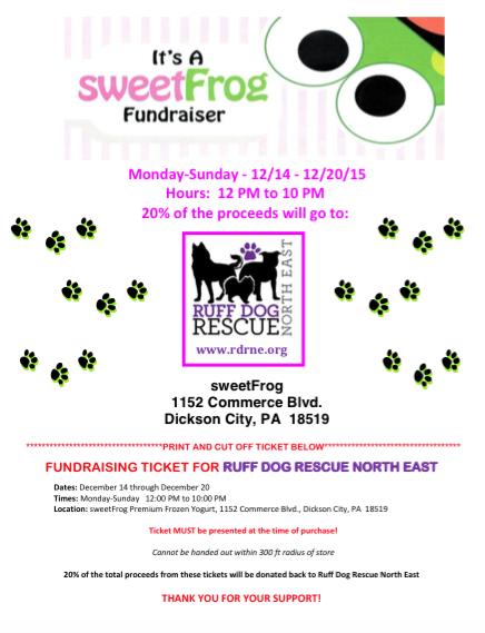 Sweet Frog Fundraiser!
