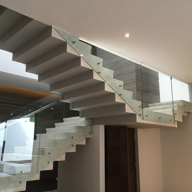 barandales de vidrio templado en escaleras monterrey nl
