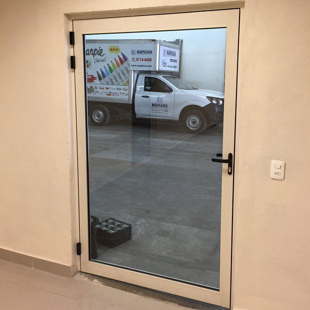 puerta de aluminio eurovent classic serie 50