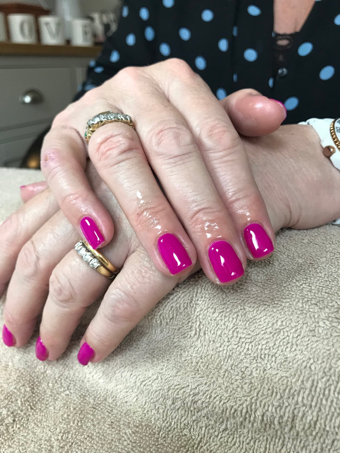 Full manicure with Calgel overlays