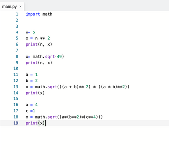 Testing math operations in Python and R