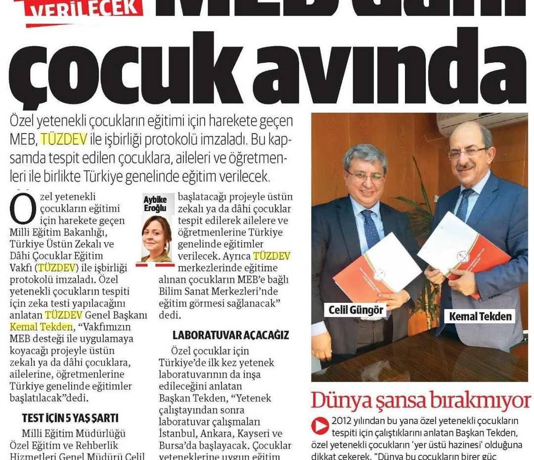 Op.Dr.Kemal TEKDEN Öncülüğünde Milli Eğitim ile Protokol.