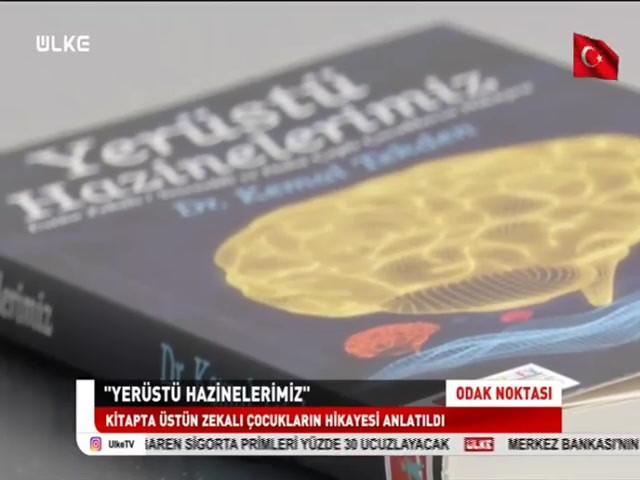 """TÜZDEV Yönetim Kurulu Başkanı Dr. Kemal TEKDEN'in """"Yerüstü Hazinelerimiz"""" Kitabı ile ilgili röportajı Ülke TV / Odak Noktası Programı"""