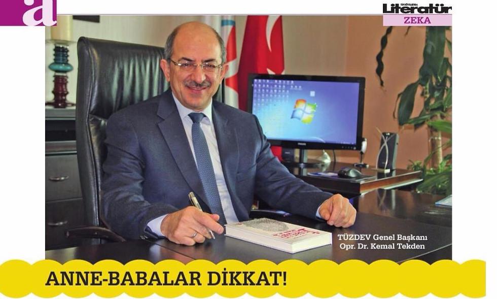Çocuğunuz üstün zekâlı olabilir! Literatür Dergisinde Sn. Kemal TEKDEN ile TÜZDEV hakkındaki röportajına yer verdi.