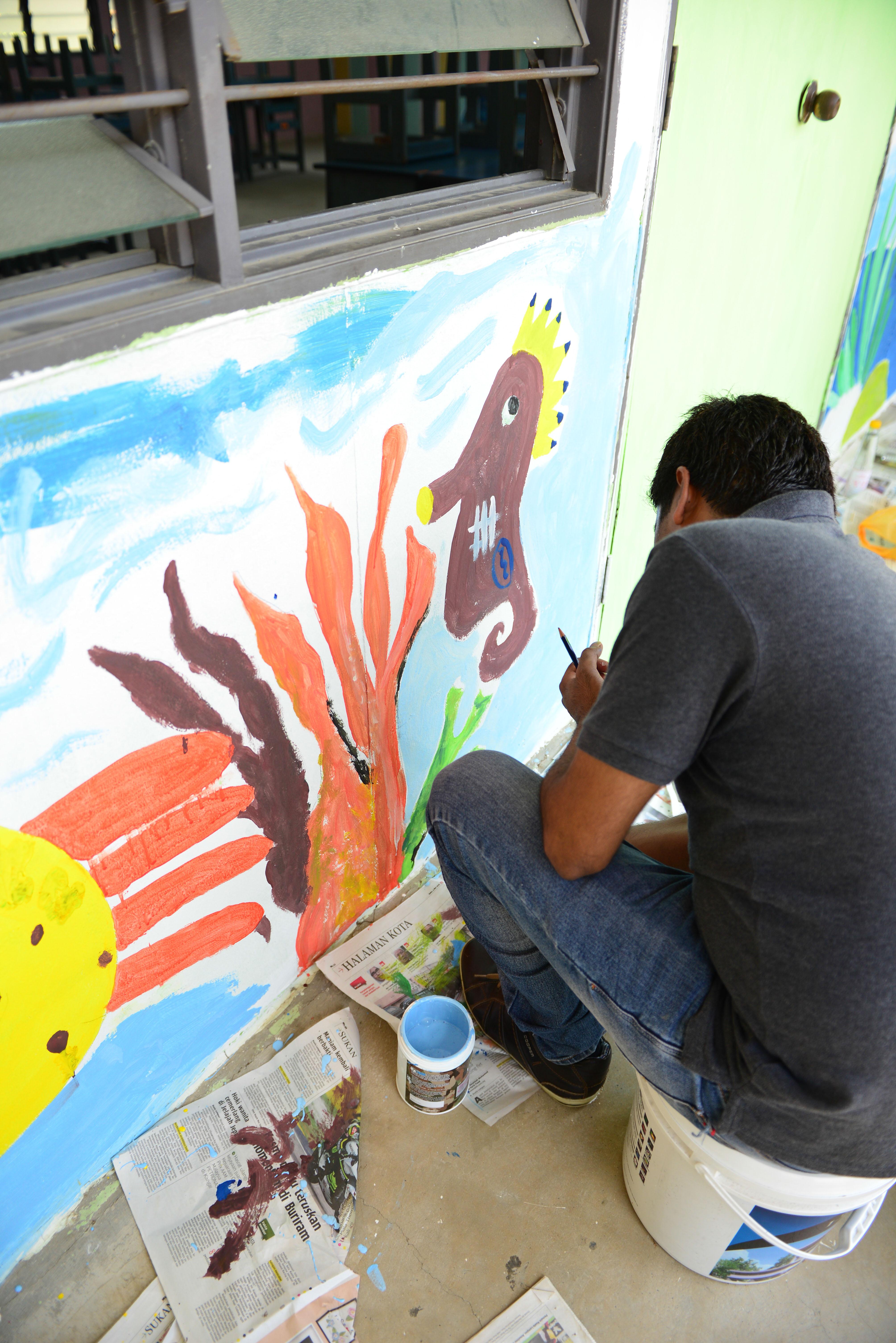 y.mural painting