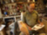 Carlos Estevez in his studio.