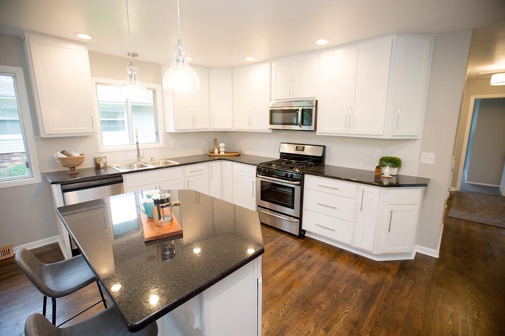 modern kitchen fix and flip