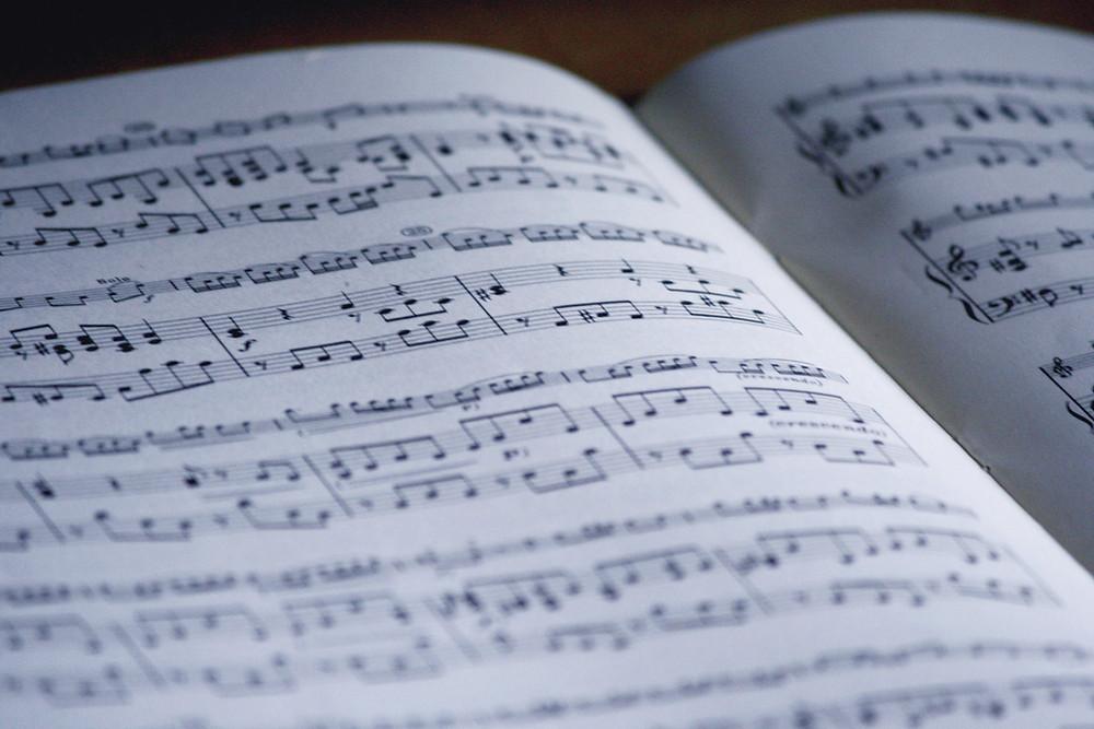 a piano sheet