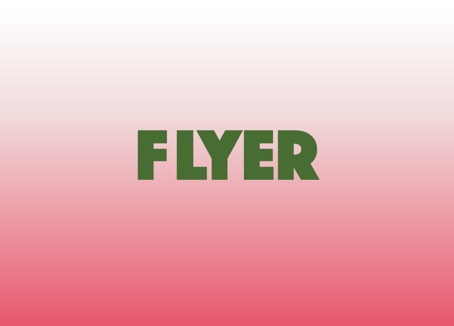 Flyers gradient new font phosphate