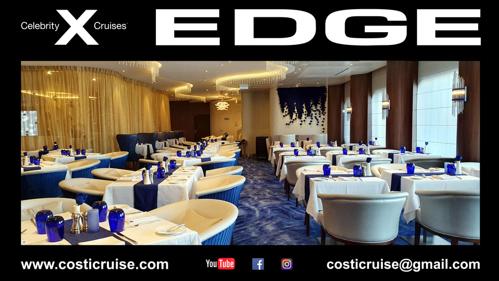 CELEBRITY EDGE  RESTAURANTS  Diaporama Click Lire la suite ..