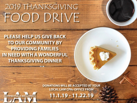 2019 Thanksgiving Food Drive