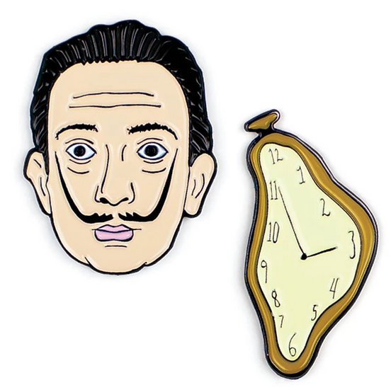 Pin - Dali & Clock