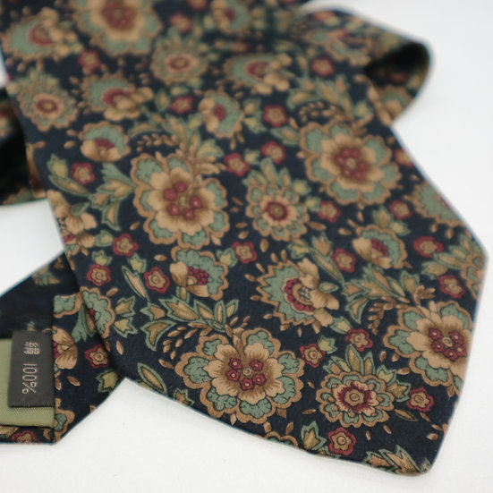 Vintage Tie - Blue Floral